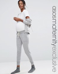 Asos Maternity Lounge Knitted Joggers Light Grey