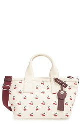 Marc By Marc Jacobs 'Small Embroidered Fruit' Canvas Tote White Off White Cherry Print