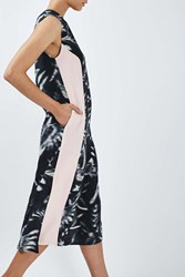 Boutique Printed Stripe Dress By Multi