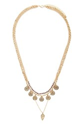 Forever 21 Medallion Layered Necklace