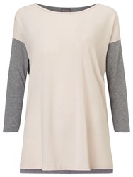 Phase Eight Sharon Colour Block Top Pink Grey