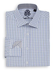 English Laundry Regular Fit Plaid Dress Shirt Blue