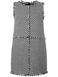 Gianluca Capannolo Tweed Shift Dress Black