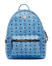 Mcm Stark Side Stud Backpack Denim