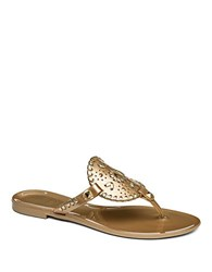 Jack Rogers Georgica Jelly Thong Sandals Gold