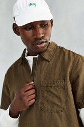 Cpo Linen Zip Up Popover Shirt Olive