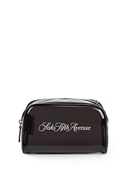 Saks Fifth Avenue Signature Cosmetic Case Black