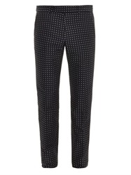 Alexander Mcqueen Polka Dot Cotton Trousers