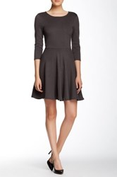 Everleigh Back Cutout Skater Dress Gray