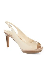Nine West Able Platform Peep Toe Pumps Taupe