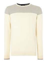 Duck And Cover Ramirez 2 Crew Neck Knitwear Beige
