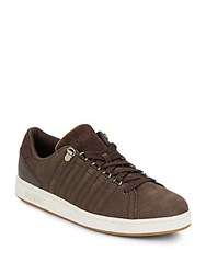 K Swiss Lozan Leather And Suede Sneakers Coffee Bean