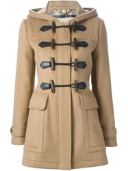 Burberry Brit House Check Lining Duffle Coat Nude And Neutrals