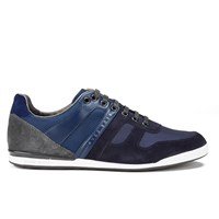 Hugo Boss Boss Green Men's Akeen Clean Leather Trainers Dark Blue Navy