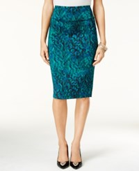 Thalia Sodi Animal Print Pencil Skirt Only At Macy's Dark Forest Combo