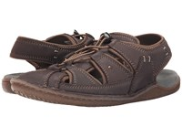 Hush Puppies Bergen Grady Dark Grey Nubuck Men's Sandals Brown