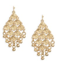 T And C Theodora And Callum Diamond Shaped Chandelier Earrings Gold