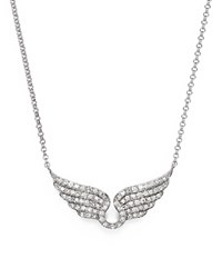 Bloomingdale's Diamond Wing Necklace In 14K White Gold .30 Ct. T.W.