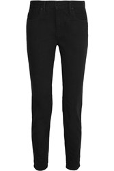 Alexander Wang 002 Low Rise Straight Leg Jeans Black