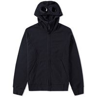 C.P. Company Goggle Fleece Zip Hoody Black