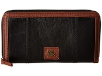 The Sak Iris Zip Around Wallet Black Onyx Wallet Handbags