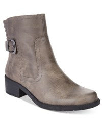 Anne Klein Lanette Moto Booties Taupe