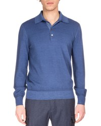 Berluti Long Sleeve Polo Shirt Pecos River