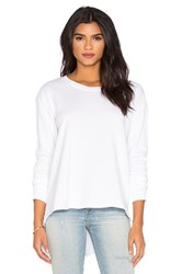 Wilt French Terry Slouchy Sweatshirt White