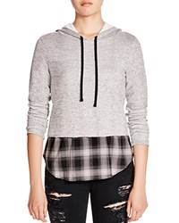 Generation Love Plaid Combo Hoodie Charcoal