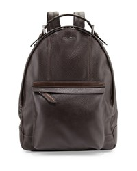 Cole Haan Medium Leather Backpack Chocolate
