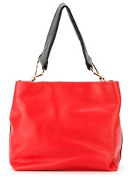 Marni Maxi Handle Tote Red
