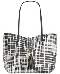 Inc International Concepts Kyli Reversible Large Tote Only At Macy's Black White Print