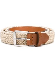 Melindagloss Woven Belt Nude And Neutrals