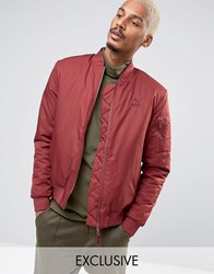Puma Padded Bomber Jacket In Red 57445801 Red