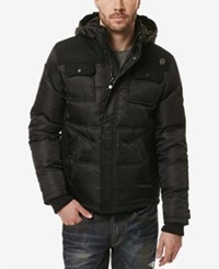 Buffalo David Bitton Men's Jalistik Hooded Puffer Coat Cannon