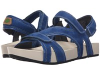 Earth Magic Royal Blue Soft Buck Women's Sandals
