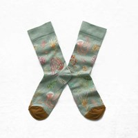 Bonne Maison Mint Green Jellyfish Socks