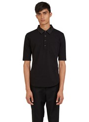 Valentino Short Sleeved Polo Shirt Black