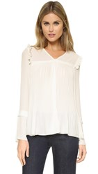 See By Chloe V Neck Blouse With Shoulder Detail Off White