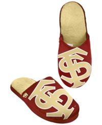 Forever Collectibles Men's Florida State Seminoles Big Logo Slippers Maroon Gold