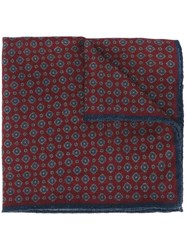 Hackett Jacquard Pocket Square Red