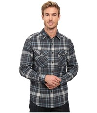 Royal Robbins Performance Flannel Plaid Long Sleeve Shirt Phoenix Blue Men's Long Sleeve Button Up