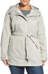 Columbia Plus Size Women's 'Pardon My Trench' Water Resistant Trench Coat Flint Grey