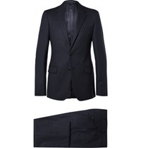 Prada Blue Slim Fit Super 120S Wool Suit Navy