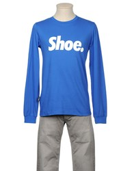 Shoeshine Topwear Long Sleeve T Shirts Men Bright Blue