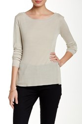 Inhabit Pointelle Long Sleeve Tee Gray