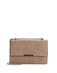 Ivanka Trump Mara Embossed Leather Convertible Crossbody Pale Taupe