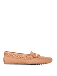 Tod's Gommino Woven Edge Nubuck Loafers