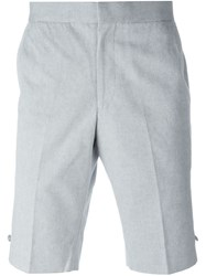 Thom Browne Knee Length Shorts Blue