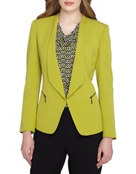 Tahari By Arthur S. Levine Foldover Collar Jacket Chartreuse